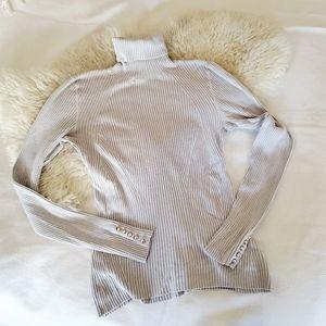 (3/$15) H&M Slimming Cream Turtleneck Sweater
